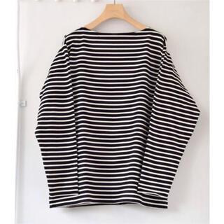 コモリ(COMOLI)のcomoli 19ss ボートネック バスクシャツ(Tシャツ/カットソー(七分/長袖))