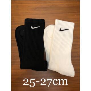 ナイキ(NIKE)の【新品未使用】NIKE  2足組 靴下 ホワイト 25.0cm〜27.0cm(ソックス)