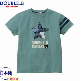 ダブルビー(DOUBLE.B)の★ダブルB★ペイズリー★星柄半袖TシャツS(155-165)★大人★ママ★日本製(Tシャツ(半袖/袖なし))