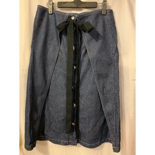 エムエムシックス(MM6)のMM6  デニム 膝丈スカート(ひざ丈スカート)
