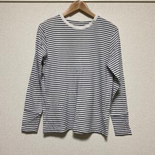 ジーユー(GU)のボーダー 長袖Tシャツ(Tシャツ/カットソー(七分/長袖))