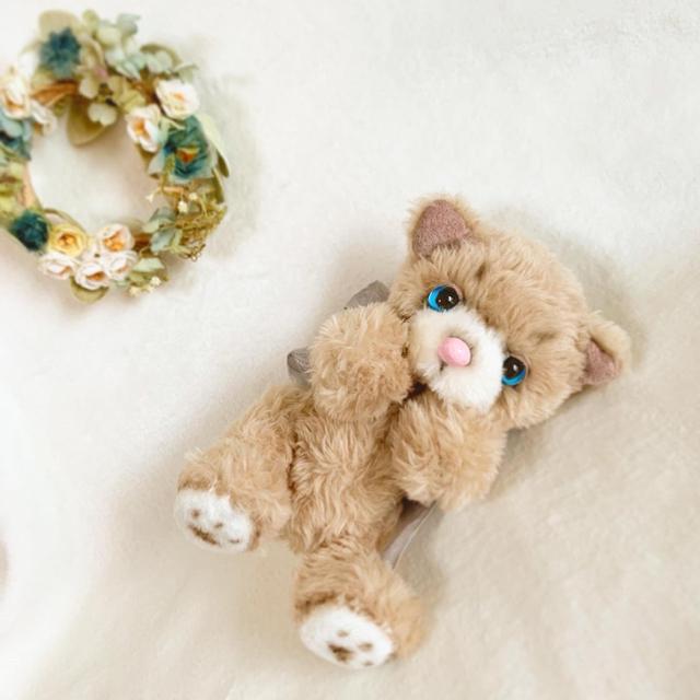 オリジナルテディベア  青い瞳の猫 エンタメ/ホビーのおもちゃ/ぬいぐるみ(ぬいぐるみ)の商品写真