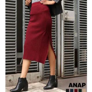 アナップ(ANAP)のANAP タイトスカート ボルドー(ロングスカート)