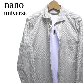 ナノユニバース(nano・universe)のnano universe ドット柄シャツ 長袖シャツ 総柄シャツ 水玉柄シャツ(シャツ)
