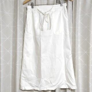 サマンサモスモス(SM2)のSM2 タイトスカート 白 ホワイト 夏 綿 麻 サマンサモスモス(ロングスカート)