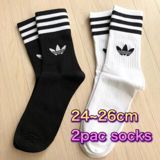 アディダス(adidas)の匿名配送 adidas originals ソックス 靴下 socks 2足組(ソックス)