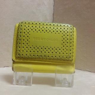 シーバイクロエ(SEE BY CHLOE)のシーバイクロエの三つ折り財布 黄色 イエロー パステルカラー(財布)