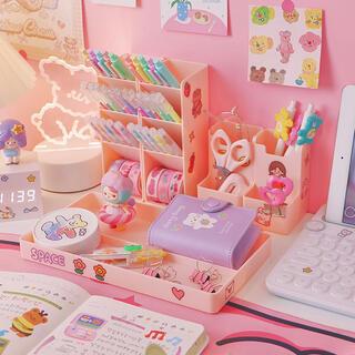 おしゃれなペン立て 名刺入れ 卓上スタンド 小物収納ボックス 文房具整理(ペンケース/筆箱)