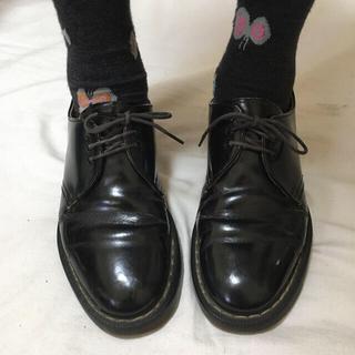 ドクターマーチン(Dr.Martens)のドクターマーチン 3ホール レア 英国製 イングランド Dr.Martens(ローファー/革靴)