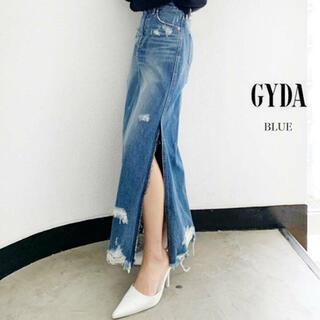 GYDA - GYDA ジェイダ サイドスリット デニムスカート