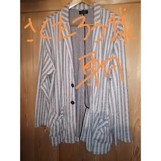 ザラ(ZARA)のザラ メンズ 麻混 ニットジャケット usaLサイズ(テーラードジャケット)