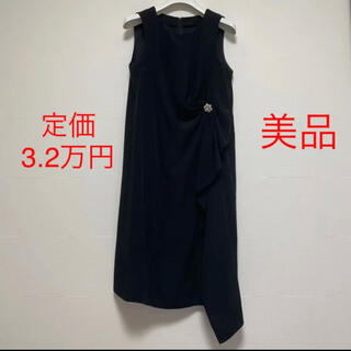 アナイ(ANAYI)の定価32,000円 美品 unacaビジューワンピース ドレス(ひざ丈ワンピース)