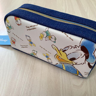 ディズニー(Disney)の定価1848円 ディズニー ドナルドダック ペンケース 筆箱 化粧ポーチ(ペンケース/筆箱)