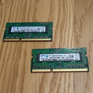 サムスン(SAMSUNG)のノートPC用メモリ DDR3-1333 4GB(2GB×2)(PCパーツ)