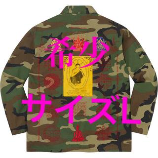 シュプリーム(Supreme)のsupreme Blessings Ripstop Shirt カモ L(ミリタリージャケット)
