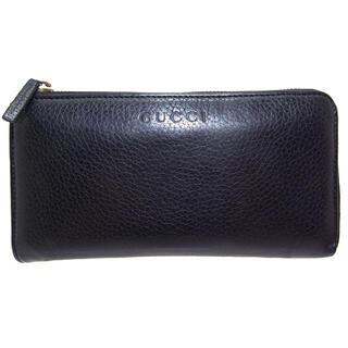 グッチ(Gucci)の正規品 グッチ L字 ファスナー 長財布 サイフ 黒 【NN9161】(長財布)