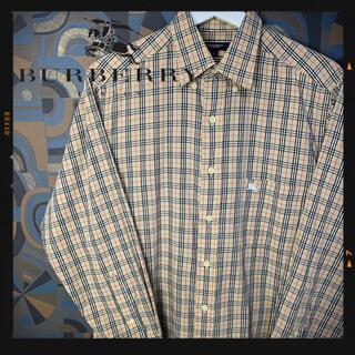 バーバリー(BURBERRY)のバーバリーロンドン 長袖シャツ ノバチェックシャツ ワンポイントロゴ(シャツ)