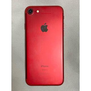 アップル(Apple)のiPhone7 レッド【ジャンク品】(スマートフォン本体)