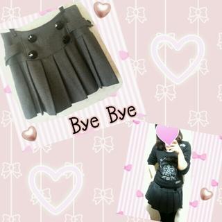 バイバイ(ByeBye)のByeBye♡プリーツスカート♡(ひざ丈スカート)