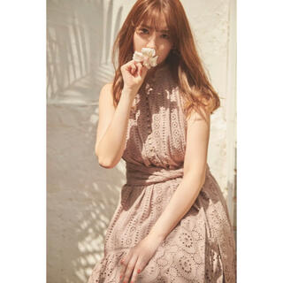 Herlipto Lace-trimmed Belted Dress mauve
