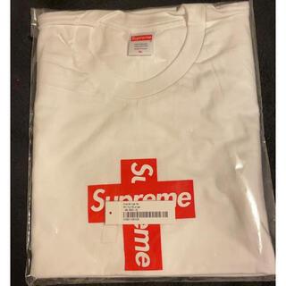 シュプリーム(Supreme)の24H以内発送 新品 納品書有り 白 XL Cross Box Logo Tee(Tシャツ/カットソー(半袖/袖なし))