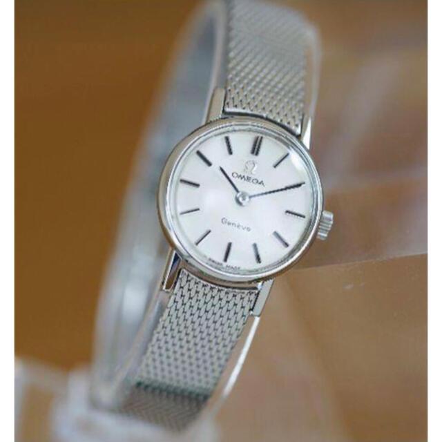 Omega Geneve Silver Ladies レディースのファッション小物(腕時計)の商品写真