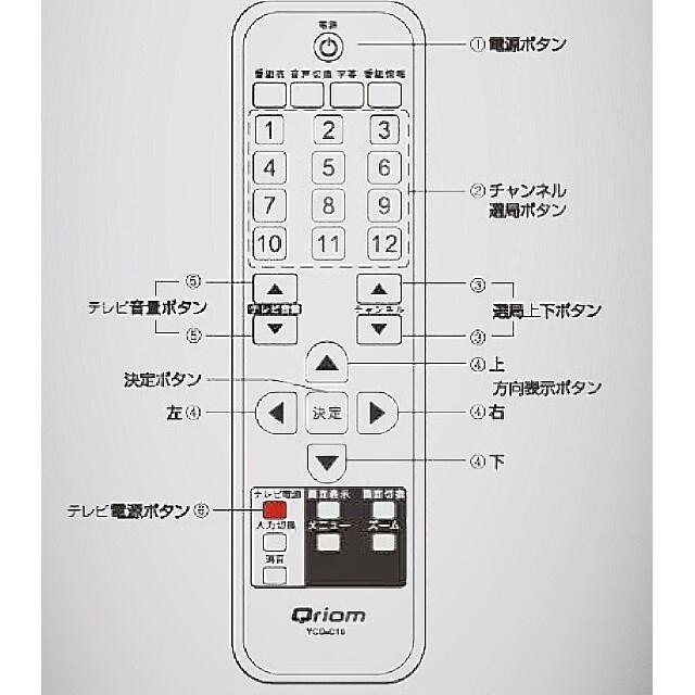 山善(ヤマゼン)のYAMAZEN YCD-C10(B)地上波デジタルチューナー スマホ/家電/カメラのテレビ/映像機器(テレビ)の商品写真