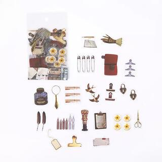 新品 シールステッカー 雑貨 コラージュ おすそ分けファイル ジャーナル素材(シール)