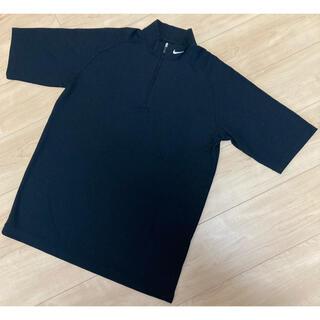 ナイキ(NIKE)の【美品】NIKE GOLF ナイキゴルフ ハーフジップ 半袖 黒 サイズM(ウエア)