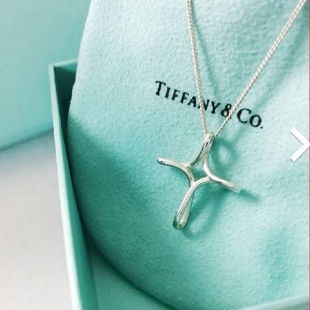 Tiffany & Co.(ティファニー)のSale♡ Tiffany&Co. オープンクロスネックレス レディースのアクセサリー(ネックレス)の商品写真