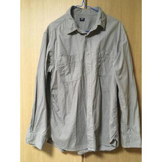 UNIQLO - ユニクロ ウォッシュワークシャツ(長袖) Lサイズ