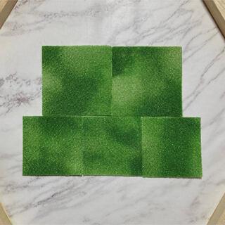 🌸つまみ細工🌸ムラ染めカット生地 90枚🌸深緑色🌸(生地/糸)