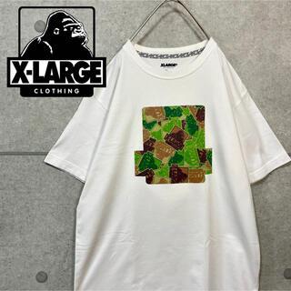 XLARGE - XLARGE エクストララージ ロゴ プリント 迷彩 カモフラ Tシャツ