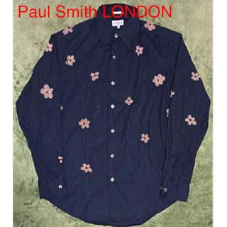 Paul Smith - 【希少】Paul Smith LONDON 総柄シャツ 花柄 ビーズ 装飾