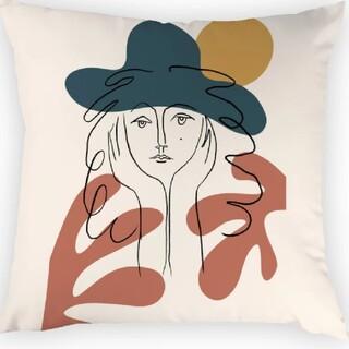 フランフラン(Francfranc)の【大人気】新品 アート クッションカバー インテリア アート クッション(クッションカバー)