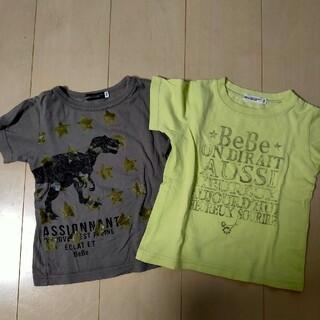 ベベ(BeBe)のbebe べべ Tシャツ 半袖 100cm(Tシャツ/カットソー)