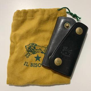 イルビゾンテ(IL BISONTE)のイルビゾンテ キーケース 黒色 袋付き(キーケース)