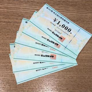 ビックカメラ コジマ 株主優待券 6000円分
