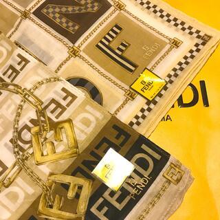 FENDI - 未使用 フェンディ ハンカチスカーフ   人気のブラウン系 嬉しい2枚セット