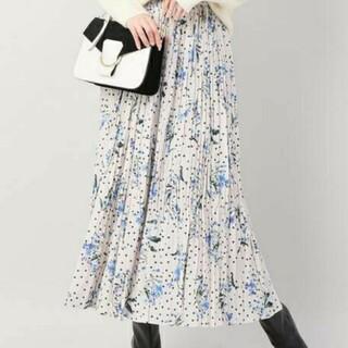 IENA - イエナ♡ドットフラワープリーツスカート 36