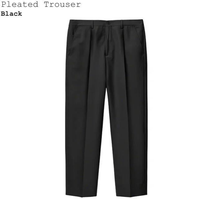 Supreme(シュプリーム)のSupreme 21ss 新作 Pleated Trouser Black 32 メンズのパンツ(スラックス)の商品写真