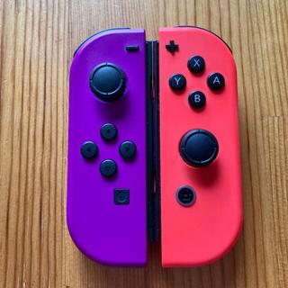 Nintendo Switch - Switch ジョイコン ネオンパープル×ネオンレッド ニンテンドー
