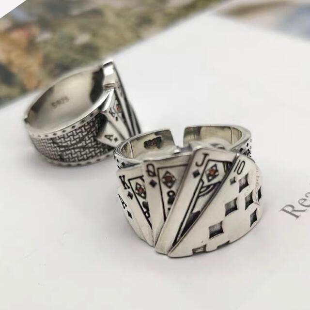 リング 指輪 ポーカー トランプ  メンズ レディース フリー シルバー925 メンズのアクセサリー(リング(指輪))の商品写真