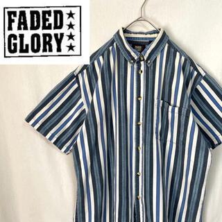ディッキーズ(Dickies)の90's  FADED GLORY ストライプシャツ 半袖(シャツ)