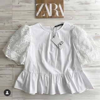 ZARA♡パフスリーブレース トップス