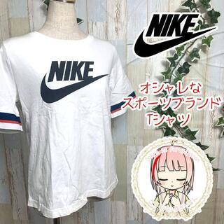 ナイキ(NIKE)のNIKE ナイキデカロゴ 半袖 TシャツホワイトL(Tシャツ(半袖/袖なし))