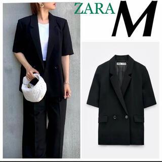 ザラ(ZARA)のZARA 新品♡ダブルブレスト ブレザー M 半袖ブレザー テーラードジャケット(テーラードジャケット)
