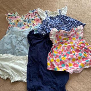 女の子夏服 80