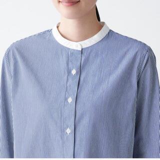 ムジルシリョウヒン(MUJI (無印良品))の無印 洗いざらしブロードスタンドカラーシャツ M(シャツ/ブラウス(長袖/七分))