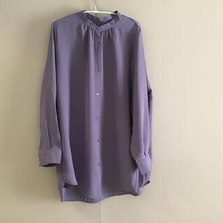 GU - GU  レディースシャツ チュニック パープル 長袖  とろみシャツ